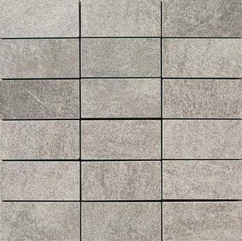 Apavisa Quartzstone Deco gris estructurado mosaico 5x10 30x30
