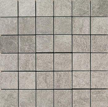 Apavisa Quartzstone Deco gris estructurado mosaico 5x5 30x30