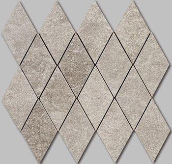 Apavisa Quartzstone Deco gris estructurado mosaico rombo