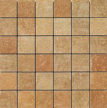 Apavisa Quartzstone Deco rosso estructurado mosaico 5x5 30x30