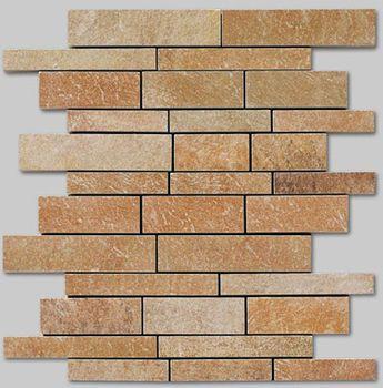 Apavisa Quartzstone Deco rosso estructurado mosaico sin fin 30x30
