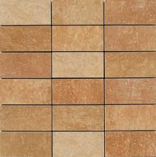 Apavisa Quartzstone Deco rosso lappato mosaico 5x10 30x30