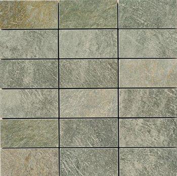 Apavisa Quartzstone Deco verde estructurado mosaico 5x10 30x30