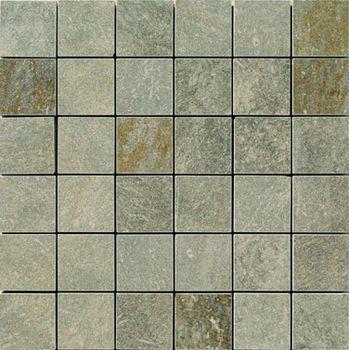Apavisa Quartzstone Deco verde estructurado mosaico 5x5 30x30