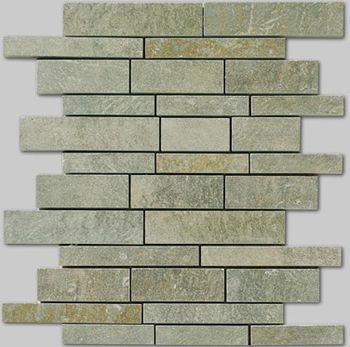 Apavisa Quartzstone Deco verde estructurado mosaico sin fin 30x30