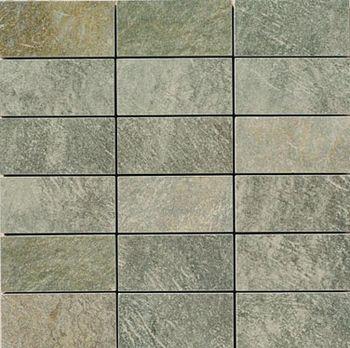 Apavisa Quartzstone Deco verde lappato mosaico 5x10 30x30