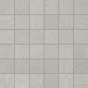 Apavisa Rendering grey natural mosaico decor 5x5 30x30