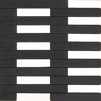 Apavisa Spectrum black satinado mosaico link 30x30