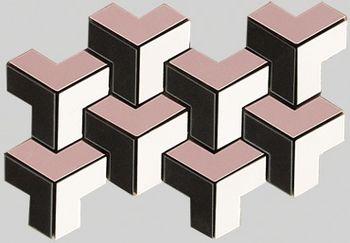 Apavisa Spectrum rose pulido mosaico tetris 15x26