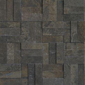 Apavisa Xtreme black lappato mosaico brick