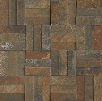 Apavisa Xtreme copper lappato mosaico brick