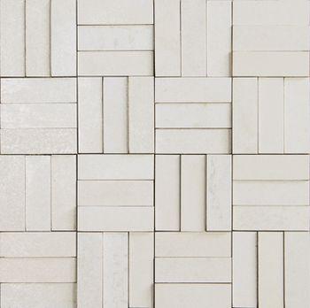 Apavisa Xtreme white lappato mosaico brick