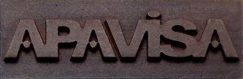 Apavisa Logo brand apavisa leather 5x15 мм