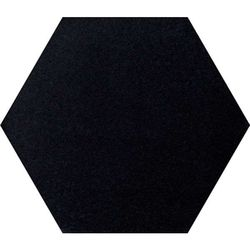 Intuition black natural hexagon 29x25