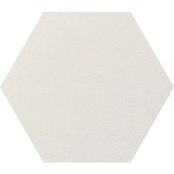 Intuition white natural hexagon 29x25