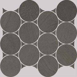 Nanoshiba 7.0 Anthracite Natural Mosaico Circle 30.07x34.84