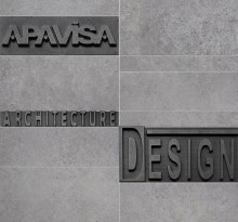 Apavisa Anarchy grey natural mosaico letters 30x30