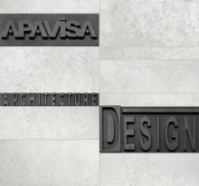 Apavisa Anarchy white natural mosaico letters 30x30