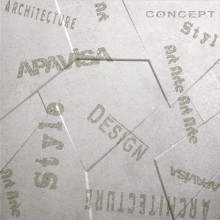 Apavisa Anarchy white natural prism letters 60x60