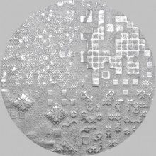 Apavisa Circle moon rendering silver decor 25x25