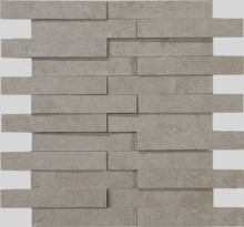 Apavisa Evolution grey striato mosaico brick 30x28