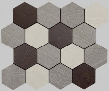 Apavisa Outdoor policromatico natural mosaico hexagonal 30x25