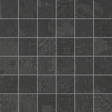 Apavisa Rendering black natural mosaico decor 5x5 30x30