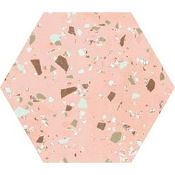 South pink natural hexagon 29x25
