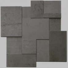 Apavisa Regeneration black natural mosaico brick 30x30